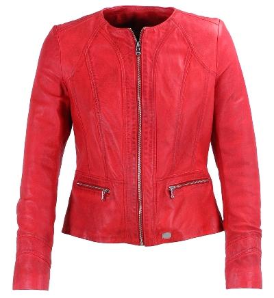 veste en cuir femme rouge redskins 2014 diaporama mode doctissimo. Black Bedroom Furniture Sets. Home Design Ideas