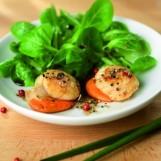 Salade de mâche aux coquilles Saint-Jacques