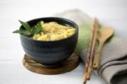 Bouillon thaï aux tagliatelles de riz