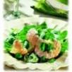 Salade de mache et de langoustines