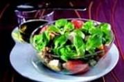 Salade de mâche aux figues et pamplemousse rouge