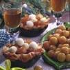 Corolles de brick aux mirabelles de lorraine et festival de glaces
