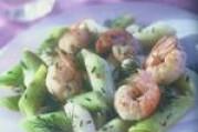 Salade de poireaux primeurs nantais aux langoustines frites