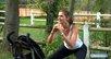 Fitness Poussette : Cardio squats