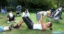 Fitness Poussette : Développé couché avec bébé