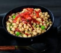 salade-tiede-de-haricots-coco-au-chorizo-croustillant