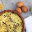 Frittata feta-haricots de soja