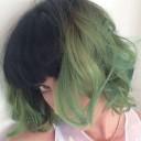 KATY PERRY GREEN HAIR