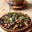 tarte champignons, marrons