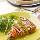 tarte en spirale courgette, aubergine, poivron et carotte