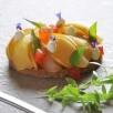 Croustillant spéculoos aux poires, crème vanillée
