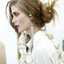 A model presents a creation by Japanese fashion designer Atsuro Tayama for his spring-summer 2012 re