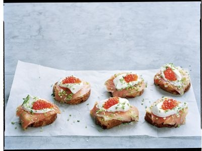 Crostini au saumon fumé et au fromage