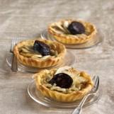Tartelette oignons, pommes et boudin noir
