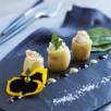 Grenaillades, tartare de merlu et saumon fumé