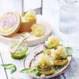 Fonds d'artichauts au pesto de Tête de Moine AOP et fleurs d'ail