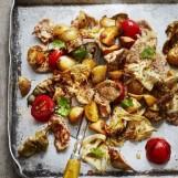 Sauté de porc mariné et légumes à la plancha