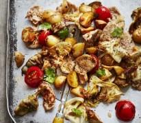 saute-de-porc-marine-et-legumes-a-la-plancha