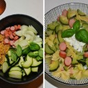 one pot pasta knakis courgettes et ricotta