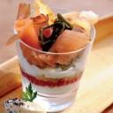 Verrine de saumon fumé et crème
