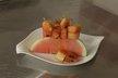Brochettes de pastèque au miel d'épices
