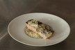Pavé de saumon, champignons à la crème, riz basmati