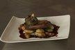 Filet de canette au cacao, pommes de terre et figues