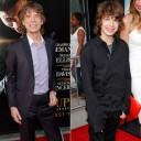 Lucas et Mick Jagger