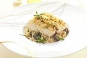 filet-de-maigre-fine-chapelure-de-pistache-et-risotto-aux-morilles