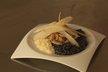 Blanc et noir de risotto aux calamars