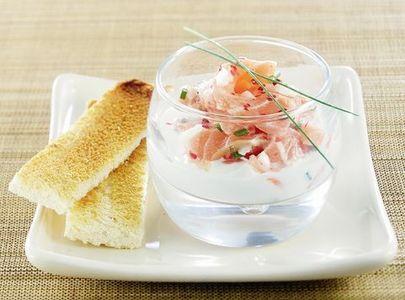 Verrine saumon cr me th vert diaporama nutrition - Entree facile et originale ...