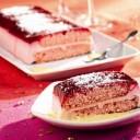 Dessert léger : Bûche bavaroise aux framboises