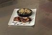 Filet mignon de porc, gratin de blettes au lard paysan
